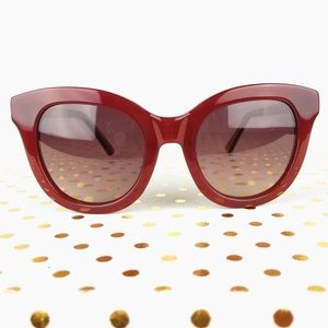 Anthropologie Ett:twa Vintage Red Sunglasses